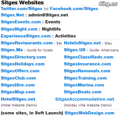 Sitges Tourism & Holiday Websites